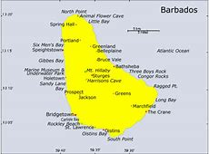 Turquoise Net Barbados Tourist Guide Map