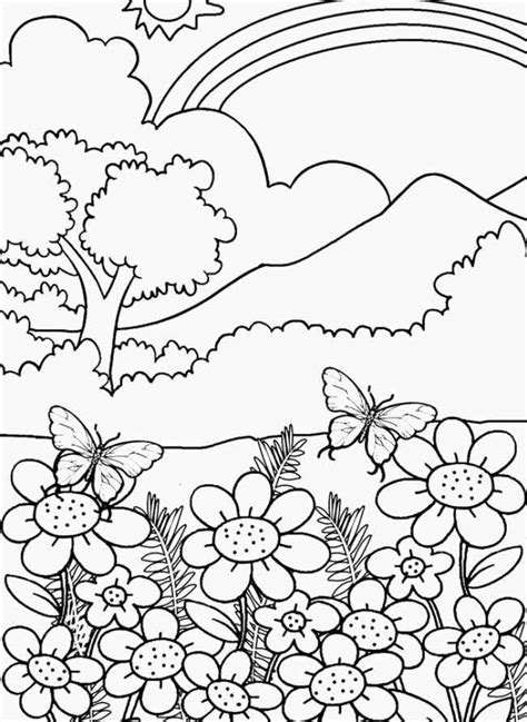 nature coloring pages  printable nhywg