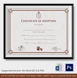 adoption certificate template 12 free pdf psd format With certificate of adoption template