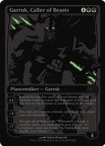Unique & Misc Promos Garruk, Caller of Beasts - SDCC 2013 ...