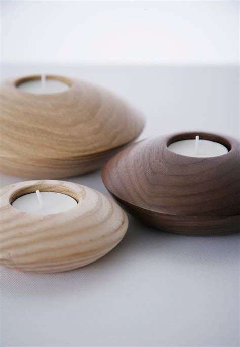 design bros owan   series  wooden tealight holders