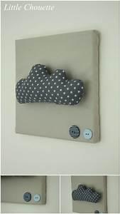 Cadre Chambre Fille : cadres diy avec petit nuage chambre b b d coration ~ Nature-et-papiers.com Idées de Décoration