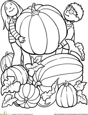 pumpkin worksheet education 396 | giant pumpkin coloring page people