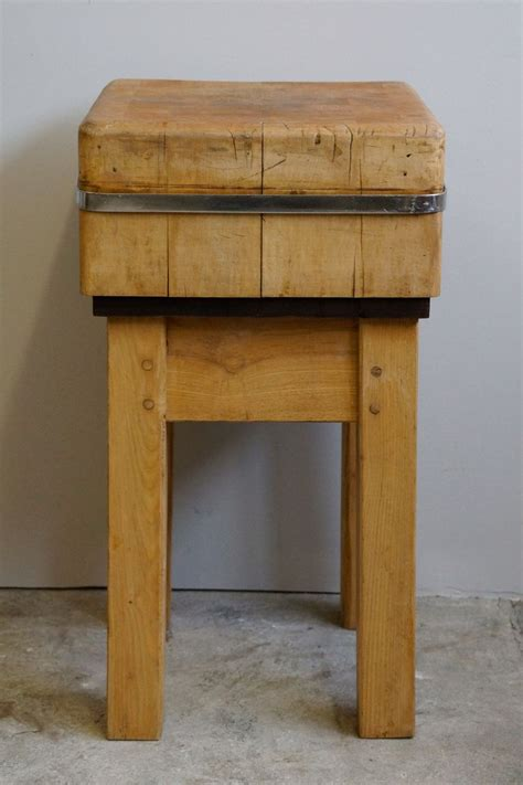 Small Butcher's Chopping Block, 1950s For Sale At Pamono