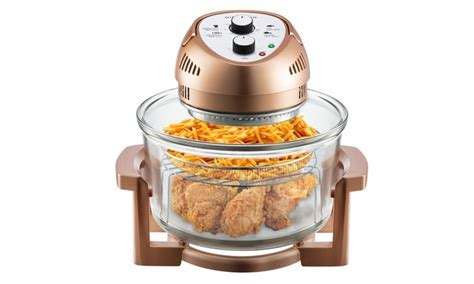 Big Boss 16qt Copper Oil less Air Fryer with Bonus Gotham