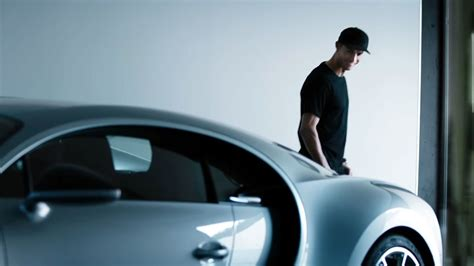 In a promotional video he did for bugatti chiron with his bugatti veyron he featured his personal garage. Cristiano Ronaldo approves Bugatti Chiron, is he getting one?