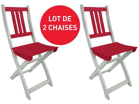 lot chaise de jardin lot de 2 chaises pliantes de jardin coloris