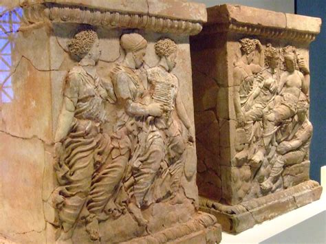 pair  altars  aphrodite  adonis greek   tar flickr