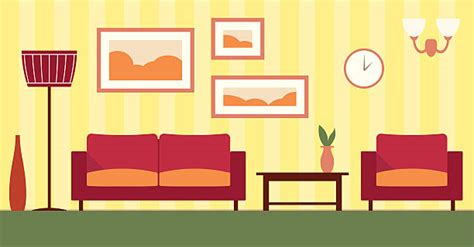Royalty Free Living Room Wall Clip Art, Vector Images