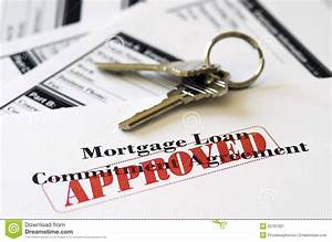 real estate mortgage approved loan document stock image With no documentation loan near me