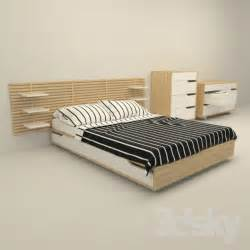 3d models bed ikea mandal