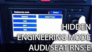Audi Rns-e Hidden Menu  Engineering Mode