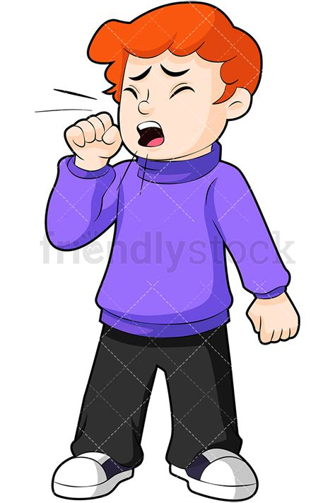 Cough Clipart Boy Coughing Vector Clipart Friendlystock