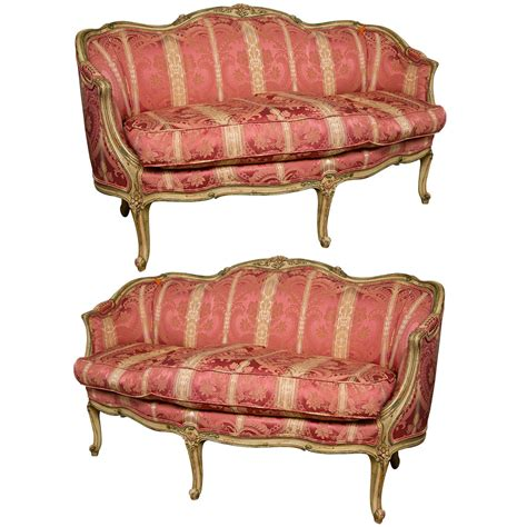 canapé louis xv pair of louis xv settees canapes by widdicomb