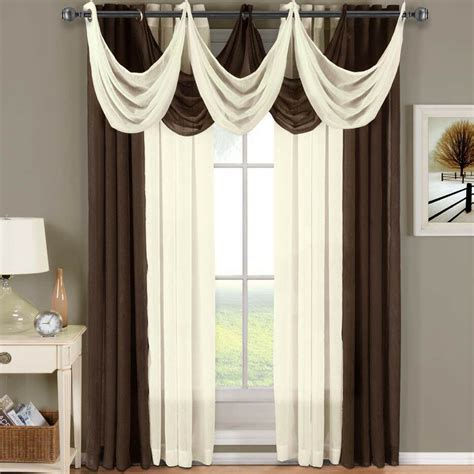 Window Panel Curtains by Abri Grommet Crushed Sheer Curtain Panel Window Treatment