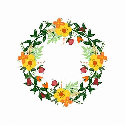 Wreath Floral Clipart Illustration Flowers Domain Shape