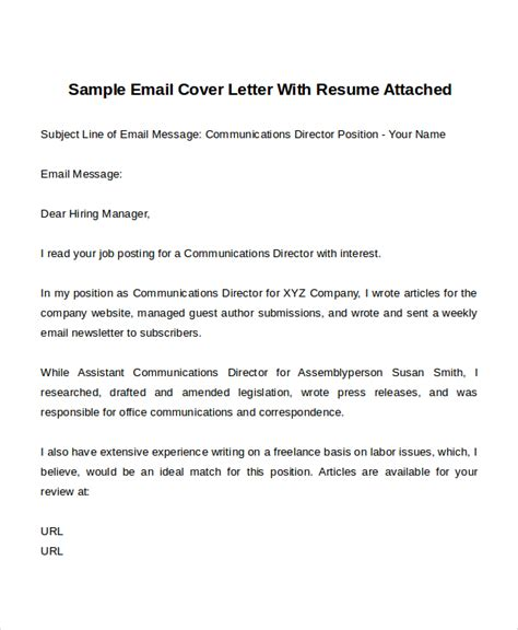 Email Cover Letter Template by Generic Cover Letters Template And How To Write Yours