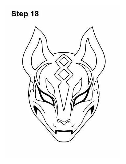 Drift Fortnite Mask Draw Coloring Step Skin