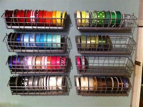 ribbon storage ideas craft projects   fan
