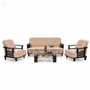 Buy royaloak comfort sofa set with cream upholstery online for Cheap home furniture online india