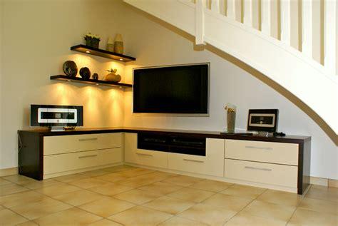 bureau blanc avec rangement l 39 atelier meuble tv medium laqu beige et chocolat