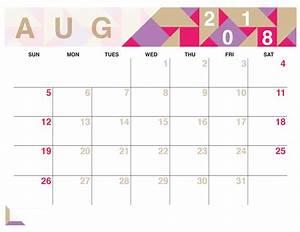 Calender August Printable August 2018 Calendar Latest Calendar
