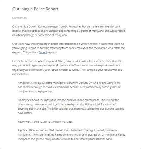 White Paper Outline Template by Report Outline Template 10 Free Sle Exle Format