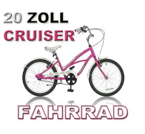 mädchenfahrrad 20 zoll 20 zoll cruiser m 196 dchen fahrrad rosa m 196 dchenmodel
