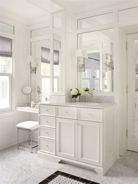 Master Bathroom Vanity With Makeup Area by Bathrooms