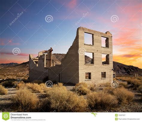 grey and yellow area crumbling building royalty free stock photography image