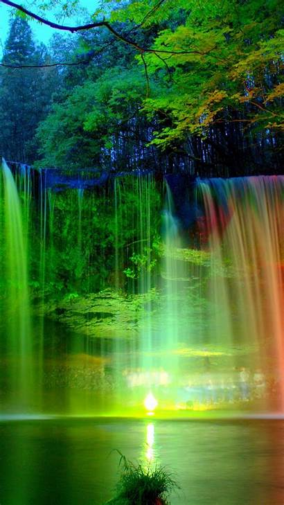 Rainbow Phone Wallpapers Colorful Natural Waterfall Android