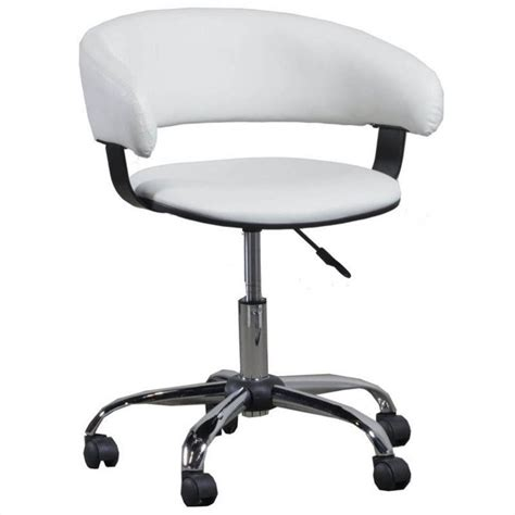 powell furniture gas lift desk office chair in white