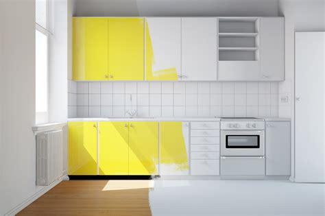 image meuble de cuisine cuisine en bois repeinte maison moderne
