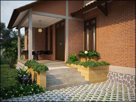 contoh desain teras rumah minimalis  asri  elegan