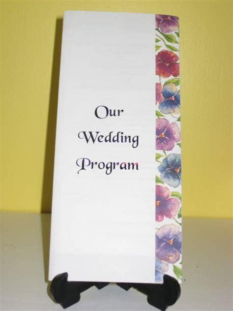 tri fold wedding program template  www