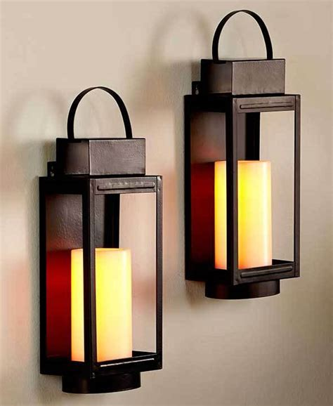 decorative candle sconces remote led stagecoach candle lantern wall sconces