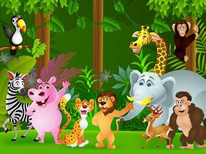 Of The Jungle Cartoon Children's Wall Mural ohpopsi