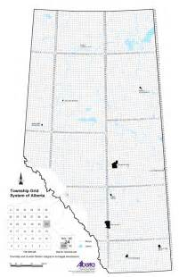 Alberta Map with Township and Range