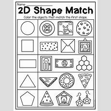Kindergarten 2d And 3d Shapes Worksheets  Kindergarten  Shapes Worksheet Kindergarten, Shapes