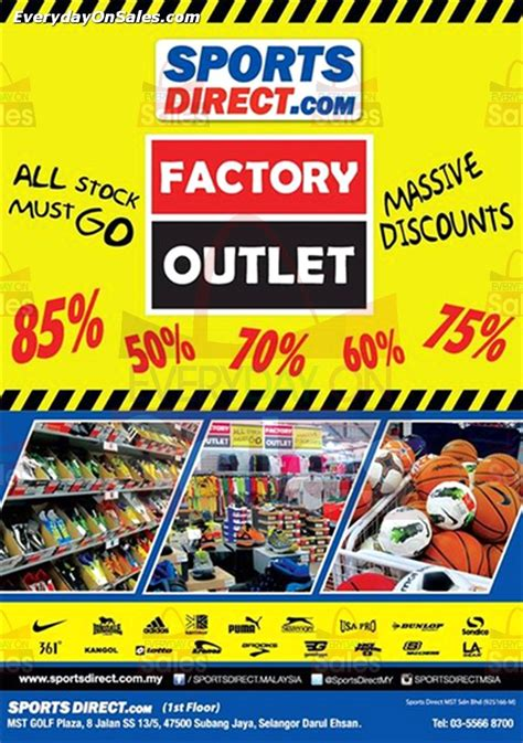 sports direct factory outlet massive discounts