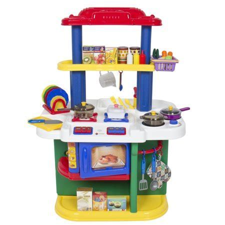 Deluxe Children Kitchen Cooking Pretend Play Set With