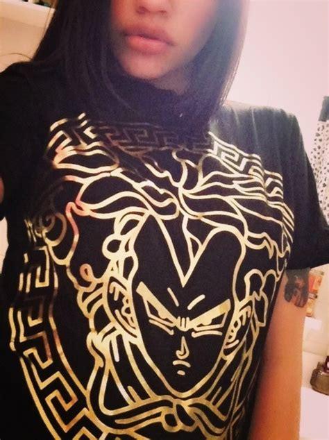 Shirt: versace, meme, gokhu, dragon ball z, fashion, black