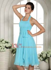 aqua blue bridesmaid dresses lorman aqua blue halter sash chiffon bridesmaid dresses knee length 109 48