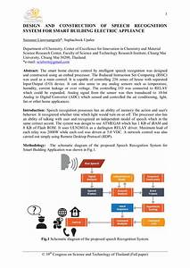 Pdf  Design And Construction Of Speech Recognition System