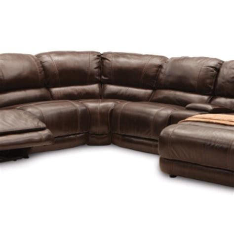 leather reclining sectional with chaise leather sectional w chaise and recliner basement ideas