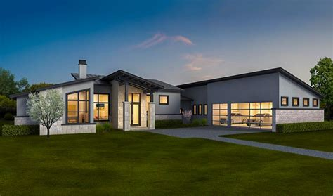 exclusive contemporary ranch home   law apartment ly architectural designs