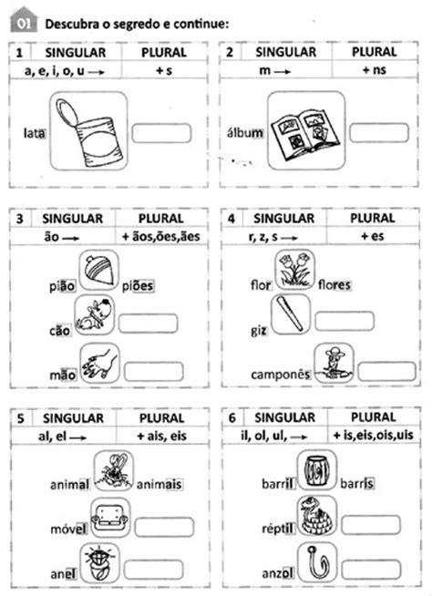 singular  plural atividades