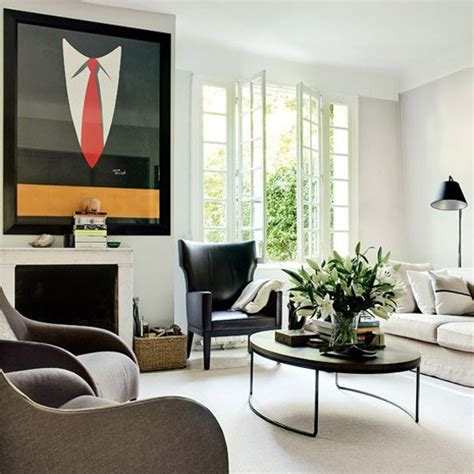 deco style living room with 1930s print deco