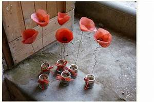 coquelicots fil de fer papier crepon mes inspirations With kitchen cabinets lowes with papier creatif