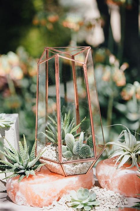 trendy ways  incorporate terrariums   wedding